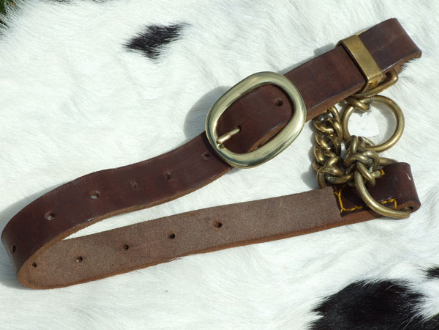 Hand-Made Adjustable English Leather Half-Check Dog Collar (Large Breeds)
